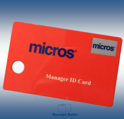 50 Genuine Red Micros Magnetic Managers Swipe ID Cards