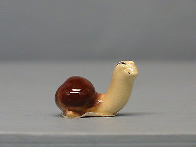 Retired Hagen Renaker Brown and Yellow Baby Snail