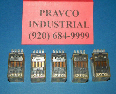 Lot of 5 Omron MY4N-24VDC Relay 14Blade 5Amp 240VAC 24VDC Coil With Green LED