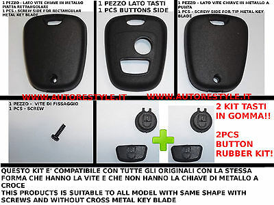 Cover Case Black E Double Buttons For Key Remote Control Peugeot 206 107 207 307