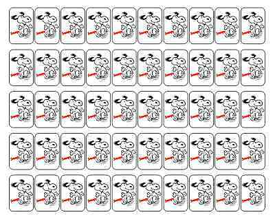 "50 Snoopy (Peanuts) Envelope Seals / Labels / Stickers, 1"" by 1.5"""