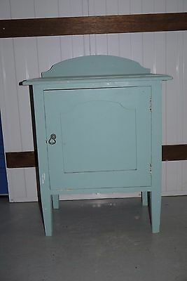 Vintage Art Deco Wooden Bedside Cabinet Lamp Table Nightstand Timber Wash Stand