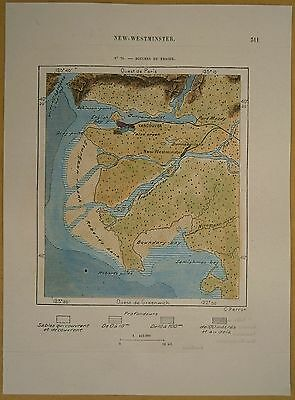 1890 Perron map VANCOUVER & MOUTH OF FRASER RIVER, BRITISH COLUMBIA, CANADA (#70