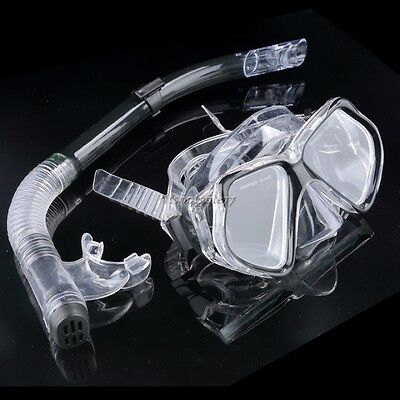 Dive Diving Mask Goggles Dry Snorkel Set Swimming Scuba Snorkeling Gear  ItS7