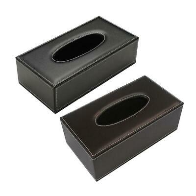 Leather Tissue Box Cover Napkin Toilet Paper Holders Case for Home Hotel Office