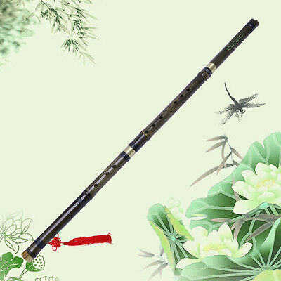 Traditional Chinese Handmade Musical Instrument Long Bamboo Flute in F Key Dizi