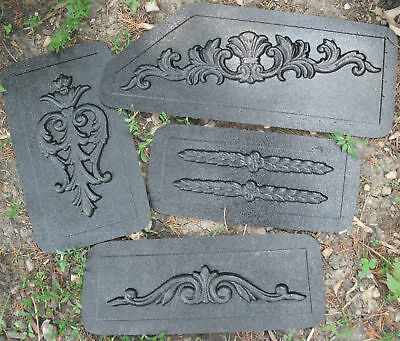 4 embellishment plastic molds..plaster clay cement mold