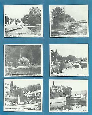 Brigham cigarette cards - DOWN THE THAMES FROM HENLEY TO WINDSOR -  full set.