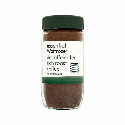 Essential Rich Roast Decaffeinated Coffee Granules Waitrose 100g