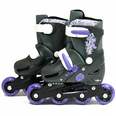 SK8 Zone Girls Purple Roller Blades Inline Skates Adjustable Size Pro Skating