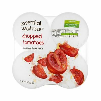 Chopped Italian Tomatoes in Juice essential Waitrose 4 x 400g