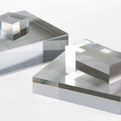 Clear Perspex Acrylic Polished Block - Display product, Jewellery, Perfume