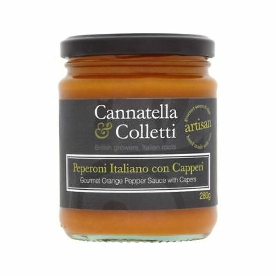 Cannatella & Colletti Sweet Orange Pepper Sauce with Capers 280g