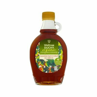 Duchy Waitrose Organic Medium No.1 Maple Syrup 250ml