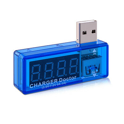 kwmobile Digital USB ammeter voltmeter adapter Smartphone Tablet Charger