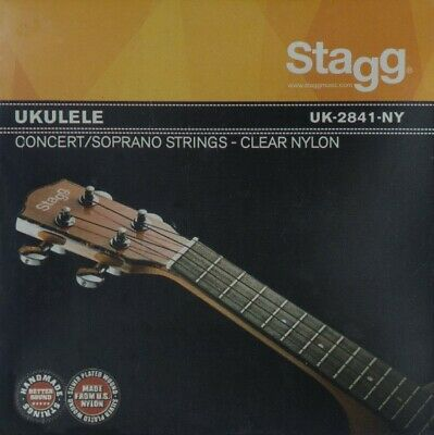 Stagg UK-2841-NY Ukulele Clear Nylon Strings For Soprano And Concert Models