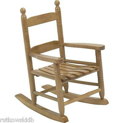 Knollwood Collection NATURAL Hardwood Classic Child's Porch Rocker Rocking Chair