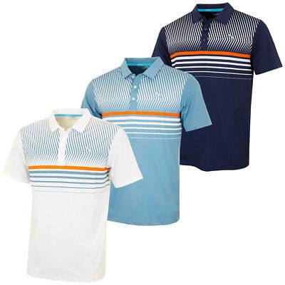 41% OFF RRP Puma Golf 2016 Mens Surface Stripe PWRCOOL Polo Shirt 570875