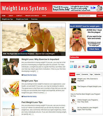 Weight Loss Systems Website For Sale + Uk Affiliate Store & Banners