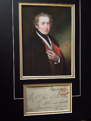 Sir Robert Peel - Victorian Prime Minister - Signed Colour Photo Display