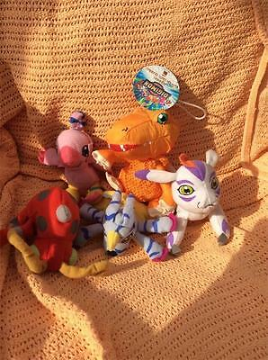 4x  McDonalds Digimon Soft Toys 13cm  and one other gnn