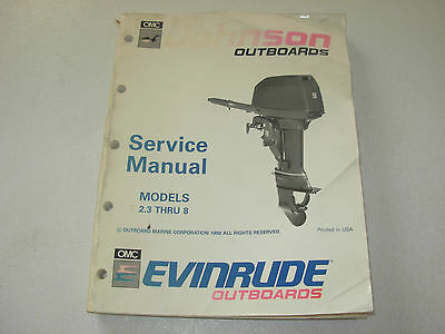 Johnson Evinrude  2.3 hp thru 8 hp Outboard Models Service Manual
