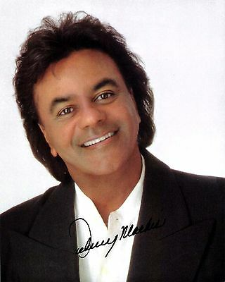 Johnny Mathis signed early 8x10 reprint autograph / original publicity photo
