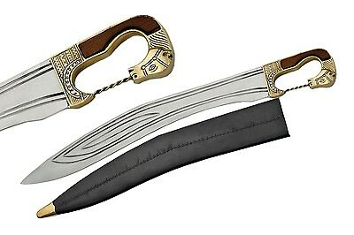 "SHORT SWORD | 28"" Roman Iberia Era Falcata Delus Blade Replica + Scabbard Sheath"