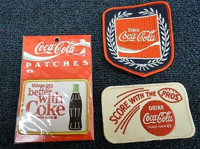 Coca Cola Patches Lot Of 3 Look !!! (pt524)