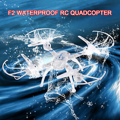 F2 2.4GHz 4CH 6Axis Waterproof One Key Return 360º Roll RC Quadcopter Drone