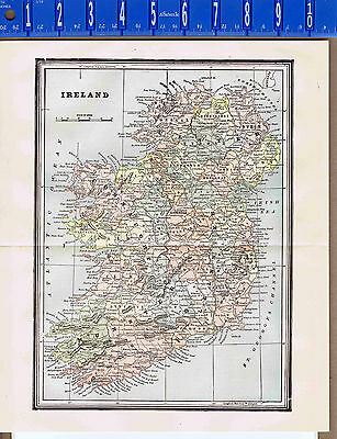 1904 IRELAND Vintage Country MAP