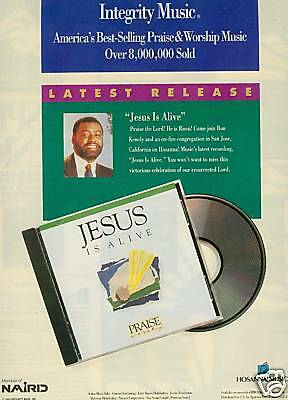 RON KENOLY Jesus Is Alive PROMO POSTER AD from 1991