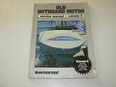 Intertec Old Outboard Motor Service Manual , above 30 HP , prior 1969