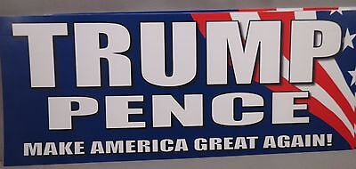 Wholesale Lot Of 20 Trump Pence Bumper Stickers Make America Great Again Us Flag