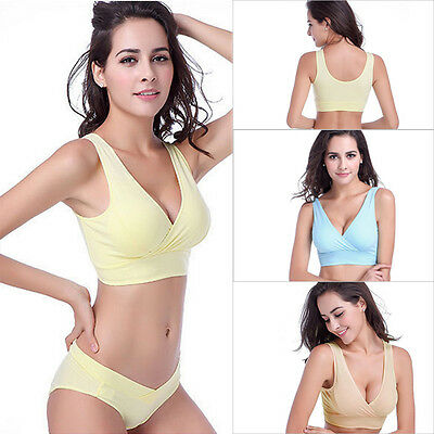 Women Seamless Nursing Bra Pregnant Maternity Breast-feeding Bra Tops Cup A-D
