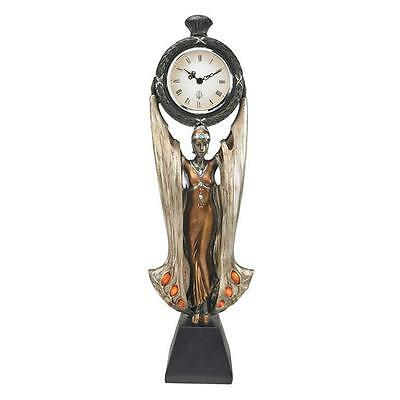 Art Deco Antique Replica Muse Quartz Clock Unique Timepiece