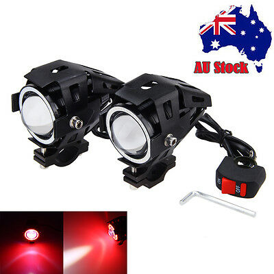 2X High Power 125W CREE U7 LED Motorcycle Spot Light Driving Headlight Fog Lamp