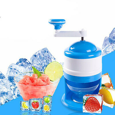 Plastic Summer Ice Candy Crusher Shaver Snow Cone Maker Manual Machine Home