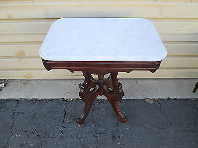 54489  Antique Victorian marble Top Lamp table Stand