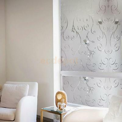 Privacy Glass Decorative Frosted Window Film Frosting 45*200cm-Pure Flower