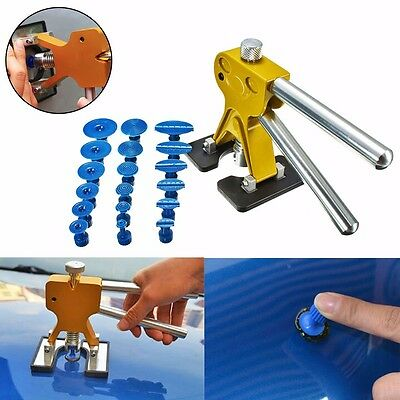 Car 18 Tabs Hail Removal+PDR Lifter Glue Puller Paintless Dent Repair Tool Kit