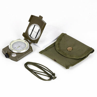 Military Army Professional Metal Sighting Compass Clinometer Camping Hiking UK