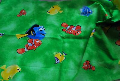 100% Cotton Fabric Material Disney FINDING NEMO/DORY - GREEN