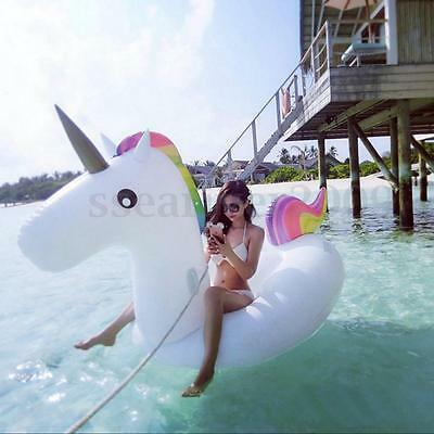 FREE DHL Delivery Giant Inflatable Unicorn Rainbow Pool Floats Water Float Raft