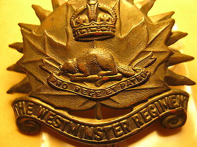 Canada Military Metal Badge Shown In The Pictures Don't Know About It Id#b1064