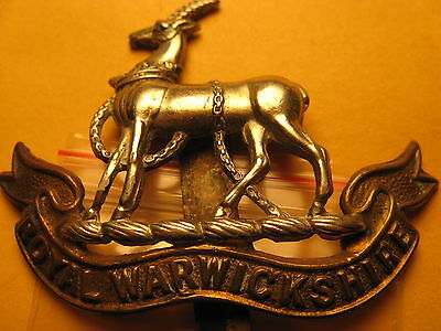 Royal Warwickshire Metal Badge Shown N The Pictures Don't Know About It Id#b1067