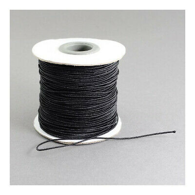 1 x Black Elastic 10m x 1mm Thong Cord Continuous Length Y04850