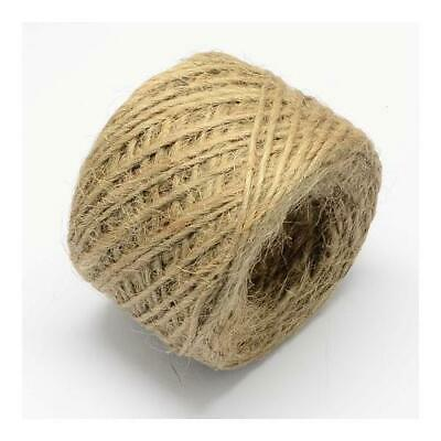 1 x Beige Hemp 20m x 1-2mm Twine Cord Continuous Length Y05050