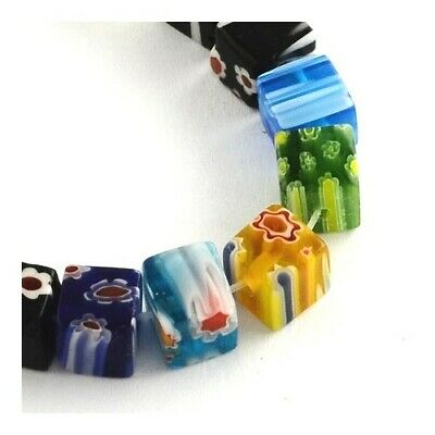 Glass Cube Beads 6mm Mixed 60+ Pcs Art Hobby DIY Jewellery Making Crafts