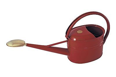 Haws 5 Litre Red Burgundy Metal Garden Watering Water Slim Can